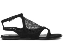 Gaia Mesh And Suede Sandals