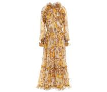 Super Eight Ruffle-trimmed Floral-print Silk-georgette Maxi Dress