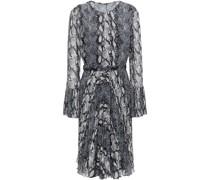 Kleid aus Georgette mit Gürtel