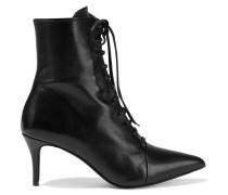 Georgina Lace-up Leather Ankle Boots