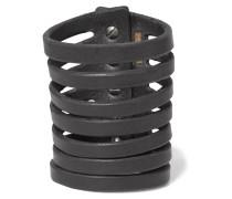 Leather Bracelet Schwarz