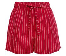 Shorts aus Baumwollpopeline mit Streifen