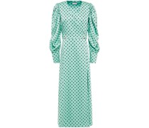 Midi-wickelkleid aus Glänzendem Crêpe mit Polka-dots