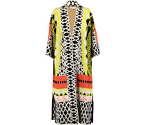 Gayla Intarsia Stretch-knit Coat Mehrfarbig