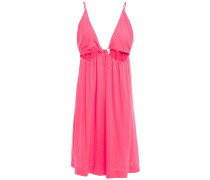 Cutout Crepe Mini Dress