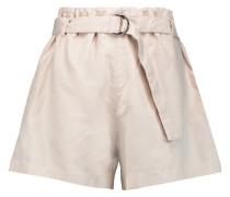 Cotton And Linen-blend Shorts Ecru
