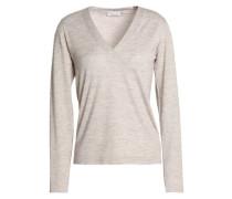 Metallic cashmere-blend sweater