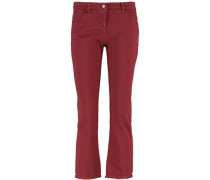 Cropped mid-rise slim-leg jeans