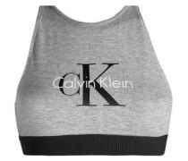 Printed stretch-cotton sports bra
