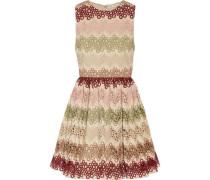 Joyce guipure lace and woven mini dress