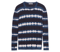 Tie-dyed Cashmere Sweater Navy