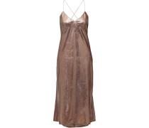 Open-back Tinsel Midi Dress