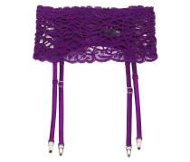 Lace-trimmed Silk-blend Crepe De Chine Suspender Belt
