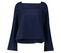 Frannie Cotton-poplin Top Mitternachtsblau