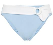 Anais Halbhohes, Geripptes Bikini-höschen mit Gürtel