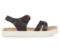Brittany Leather Sandals Schwarz