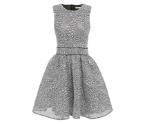 Reinatta Flared Lace And Neoprene Mini Dress