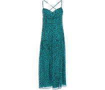 Open-back Leopard-print Silk-chiffon Midi Dress
