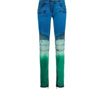 Tie-dye Low-rise Skinny Jeans Ultramarin