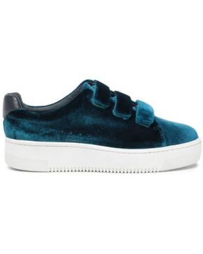 Velvet Sneakers Teal