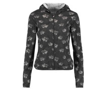 Printed shell hooded jacket