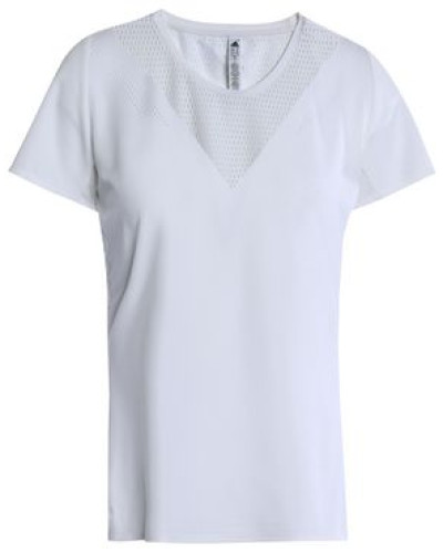 Perforated-paneled Tech-jersey T-shirt White
