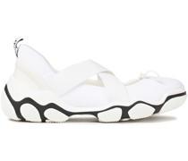 Sneakers aus Neopren mit Lederbesatz