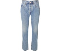 The Benefit Cropped High-rise Straight-leg Jeans
