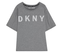 Glittered Stretch Cotton And Modal-blend T-shirt