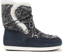 Far Side High Faux Fur And Suede Snow Boots