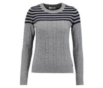 Sharlene Ribbed Cable-knit Sweater Grau