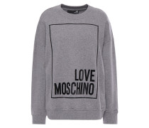 Woman Printed French Cotton-terry Sweatshirt Gray