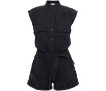Gathered Linen Playsuit