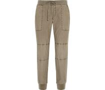 Cotton Utility Pants Armeegrün