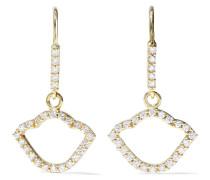 Nalika Lotus 18-karat  Diamond Earrings