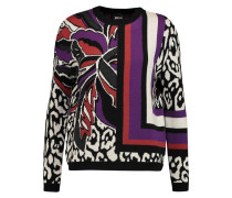 Jacquard-knit Wool Sweater Lila