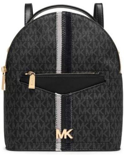 Jessa Velvet-trimmed Faux Leather Backpack Black Size --