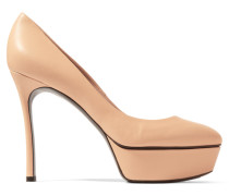 Leather Pumps Beige