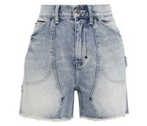 The Goldmine Frayed Faded Denim Shorts