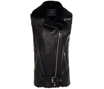 Buckled Shearling Vest