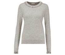 Crystal-embellished Cashmere Sweater Grau