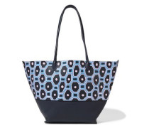 Brenna painted textured-leather tote