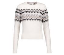 Fair Isle Intarsia-knit Sweater Creme
