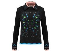 Snowflake Jacquard-knit Angora-blend Sweater Schwarz