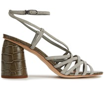 Daffodil Croc-effect Leather Sandals