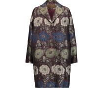 Metallic jacquard coat