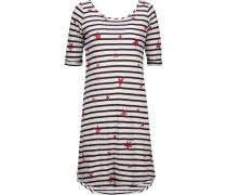 Printed Stretch-jersey Mini Dress Weiß