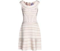 Fluted bandage-jacquard dress