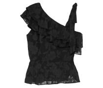 Katerina Ruffled Fil Coupé Silk And Cotton-blend Top