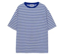 Oversized-t-shirt aus Biobaumwoll-jersey mit Streifen